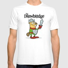 The Drawbridge Logo Mens Fitted Tee SMALL White