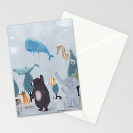 nature parade Stationery Cards