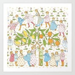 Oranges and Lemons Say the Bells of St. Clements - Vintage Wallpaper Art Print