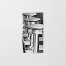 VINTAGE DINER BAR STOOLS - BYGONE ERA - MID CENTURY CHIC Hand & Bath Towel