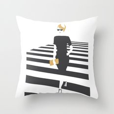 Zebra walk Throw Pillow