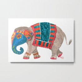 Decorated Indian elephant Metal Print