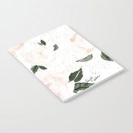 vintage blush floral Notebook