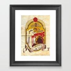 Dr. Phibes Locust Lager Framed Art Print
