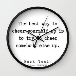 58   | Mark Twain Quotes | 190730 Wall Clock