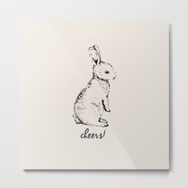 cheers little bunny Metal Print