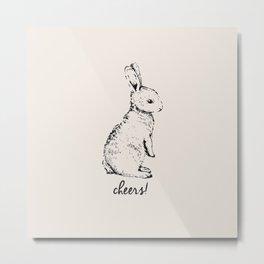 cheers little bunny Metal Print