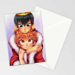 Kageyama and Hinata Crow and Crown Stationery Cards