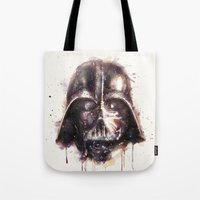 darth Tote Bags featuring Darth Vader by beart24