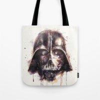 darth vader Tote Bags featuring Darth Vader by beart24