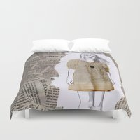 newspaper Duvet Covers featuring Newspaper by Melania B