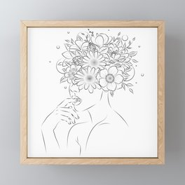 Thinking and blooming  Framed Mini Art Print
