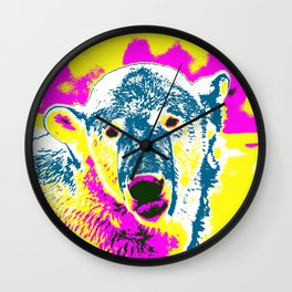 Pop Art Polar Bear 1 Wall Clock