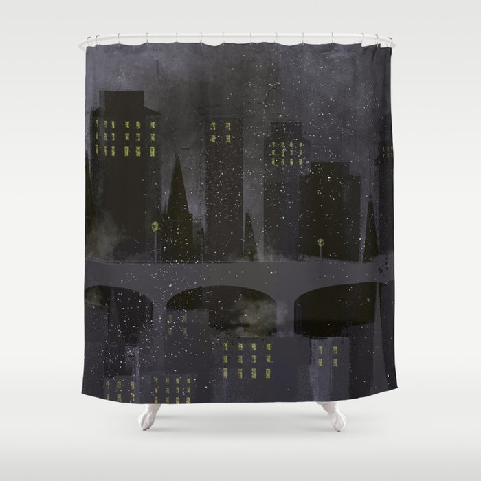 Edinburgh by night Shower Curtain