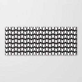 Smal Gridlock Duffle Black Canvas Print