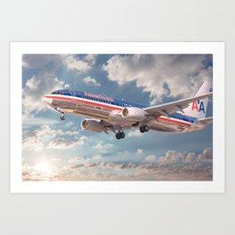American Airlines Boeing 737 Art Print