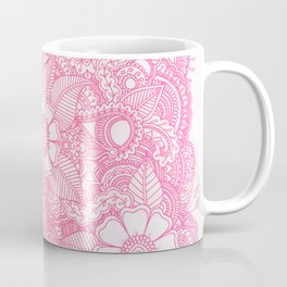 Henna Design - Pink Coffee Mug