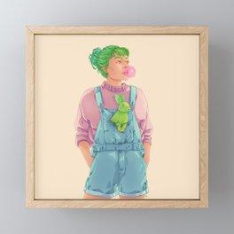 BUBBLY V2 Framed Mini Art Print