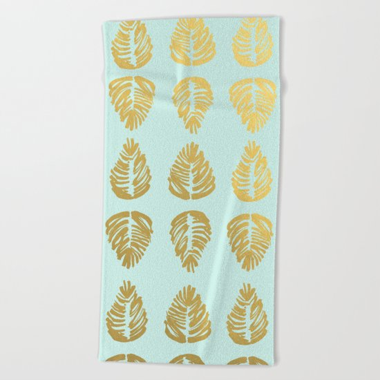 Gold Palms Deluxe Beach Towel