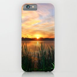 Sunrise At the Lake iPhone Case
