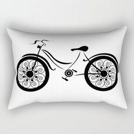 Line Bike Rectangular Pillow