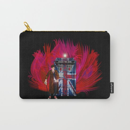 British Tardis with 10th Doctor who iPhone 4 4s 5 5c 6, pillow case, mugs and tshirt Carry-All Pouch