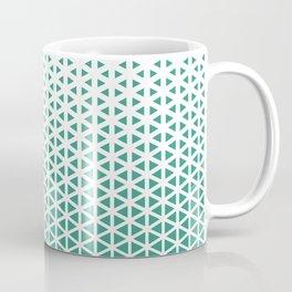 Halftone Mint Triangles Pattern Coffee Mug