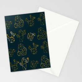 golden cactus Stationery Cards