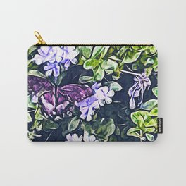 Impression of Summer (Butterfly and Periwinkle) Carry-All Pouch