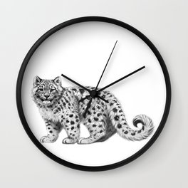 Snow Leopard cub g142 Wall Clock