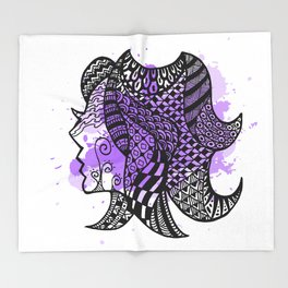 Zodiac Zentangle - Virgo Throw Blanket