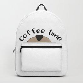 pug coffee time coffein Dog Doggie Puppy gift Backpack