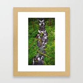 (#62) Green Leaves Framed Art Print