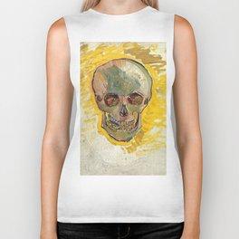 Vincent Van Gogh Skull Biker Tank