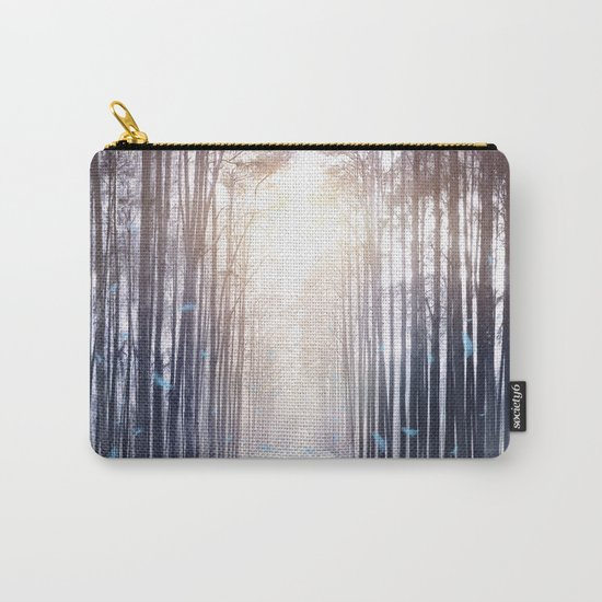 Feather Dance In Winter Carry-All Pouch