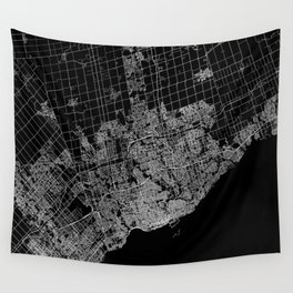 toronto map Wall Tapestry
