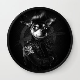 Bad Chihuahua Wall Clock