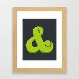 Green Ampersand Framed Art Print