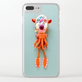 Anatomy of Small Ear Squid & Deep Water Clams Clear iPhone Case