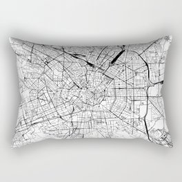 Milan White Map Rectangular Pillow