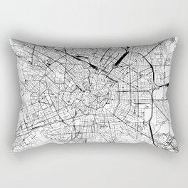 Milan White Map Rectangular Pillow