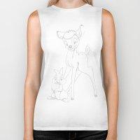 bambi Biker Tanks featuring bambi by cvrcak