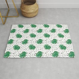 Monstera Dot Spots Rug