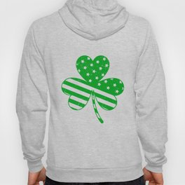 Irish American Flag Vintage Shamrock design Saint Patrick D Hoody