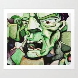 Hulk Abstract Art Print