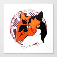 minnie Canvas Prints featuring Minnie by Claire Merriman