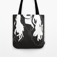 coven Tote Bags featuring Cross by Anna McKay