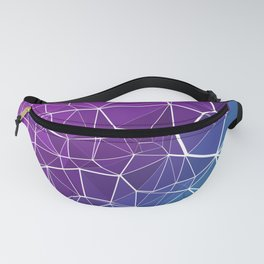 Pink, Purple, and Blue Triangles Fanny Pack