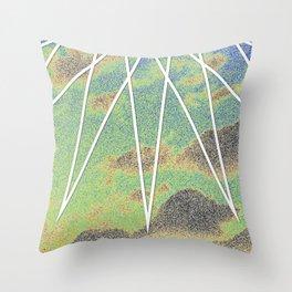 Solarized Burst Throw Pillow