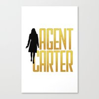 agent carter Canvas Prints featuring Agent Carter by Peggy Carter